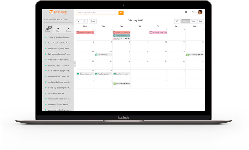 Combines Task- and Eventmanagement into a single tool